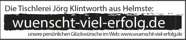 Tischlerei Klintworth wünscht viel Erfolg